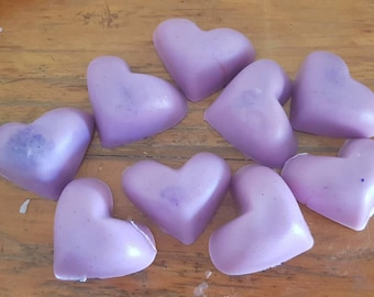 Goats milk purple heart guest soaps