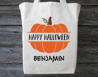 Personalized Halloween Bag, Personalized Trick or Treat Bag, Halloween Bag, Trick or Treat Bag, Candy Bag