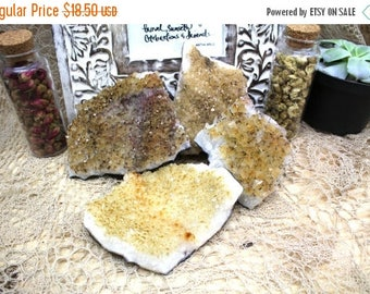 10% off July 4th Raw Citrine Cluster Slab - 0.5 to 1 LB - Power Stone -Natural Stones - Home Decor, Chakra Crystals (RK82B3)