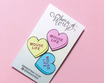 Candy Heart Mouselife 3-Pack!
