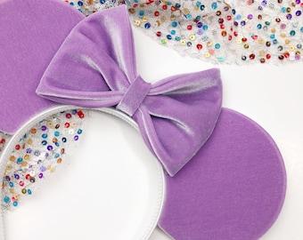 Lavender Velvet Mouse Ears