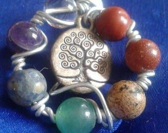 Pretty pendant with stone.