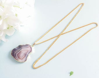 """Necklace natural stone - """"paragraph"""" - Elegant & refined"""