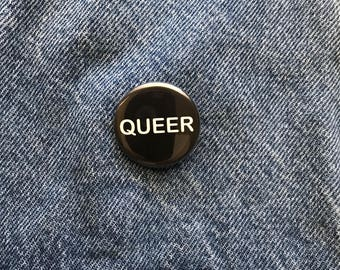 Queer button--pack of 2