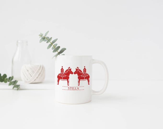 Personalized Christmas Dala Mug