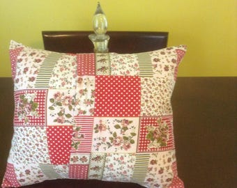 Country Style Standard Size set of Two Handmade Pillowcases and Pillow