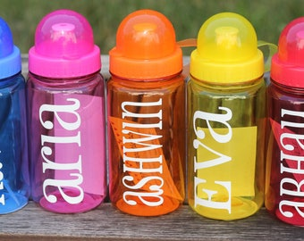 Personalized Water Bottle, Monogrammed Water Bottles, Kids Water Bottle, Reusable Water Bottle, Party Favor, Lunch Box, Back to School Lunch
