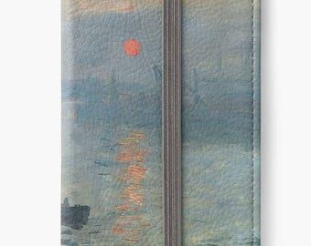 Folio Wallet Case for iPhone 8 Plus, iPhone 8, iPhone 7, iPhone 6 Plus, iPhone SE, iPhone 6, iPhone 5s - Impression, Sunrise by Claude Monet