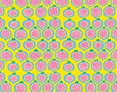 Spring 2018 Kaffe Fassett Collective  -- Fat Quarter of Pomegranate in Yellow