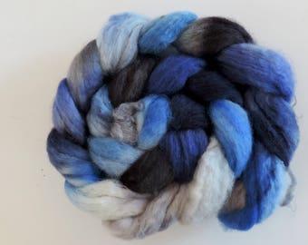 BFL sw Nylon,Ghost of Midnight, handgefärbte Fasern zum Spinnen,100g Kammzug, Sock Blend