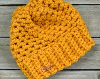 Fitted Chunky Crochet Beanie