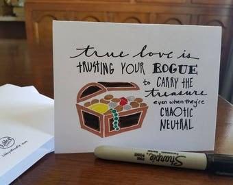 RPG true love: Rogue - hand-doodled card