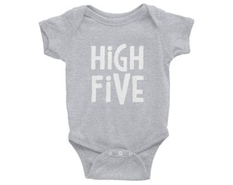 High Five One-Piece // High Five Bodysuit // High Five // Baby Clothes // Baby Apparel // Cute Baby Apparel // Gender Neutral Baby