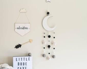 Nursery Decor, Wall Hanging, Nursery Wall Hanging, Crib Mobile, Cot Mobile, Nursery Mobile, Baby Mobile, Hanging Mobile