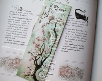 beautiful turquoise cherry dragon bookmark
