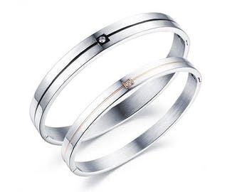 A Simple Kind of Love - Couples Bracelets / His and Hers Bracelets / Engraved Bracelets for Her / Matching Jewelry for Couples