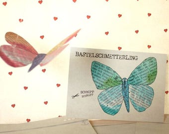 Craft Postcard Butterfly