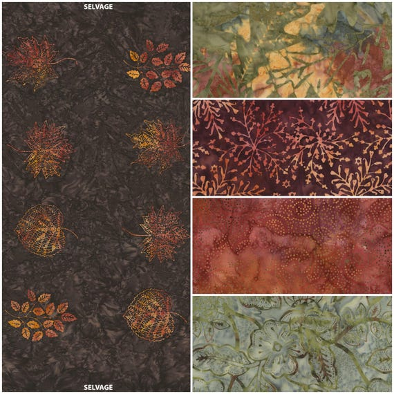 "Forest Floor Batik King Quilt Kit; 106"" Sq; Wing And A"