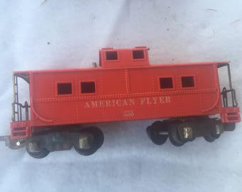 Vintage Mid-Century American Flyer 638 S-Scale Model Train Caboose