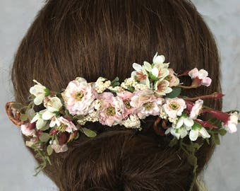 rustic head piece wedding Bridal