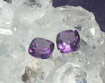 Amethyst Square Gemstone 12 available 6mm x 6mm x 4mm