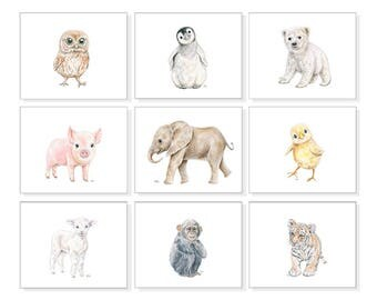 Childrens Wall Art Childrens Art Prints Kids Wall Art Kids Art Childs Prints Kids Wall Decor Bedroom Art Playroom Prints Animal Watercolor 9