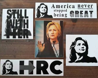 Hillary Clinton 5 Sticker LOT