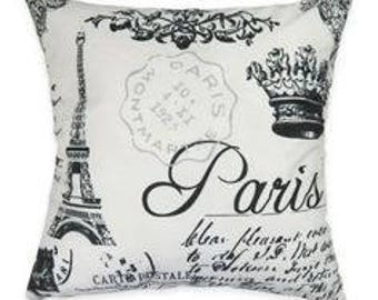 Paris Visions Throw Pillow Case - Invisible Zipper