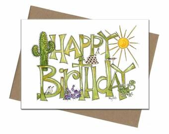 Southwest Desert Theme | Birthday Card | SKU C0003