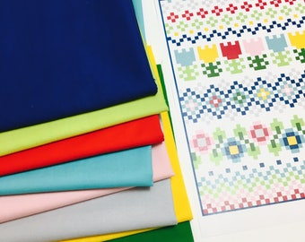 Folk Stitches Classic Quilt Kit - Allison Jensen