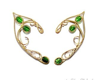 Tauriel Elf ears, ear jewelry for Elf Ranger cosplay, elven ears for Tauriel costume, LOTR gift, elf costume, elvish jewelry