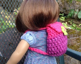 Hand crocheted American Girl Doll Backpack