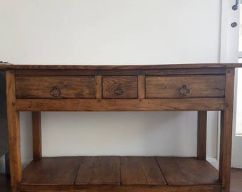 Custom Handmade Reclaimed Elm  Server Or Side Board  Made By Artefacts Invernizzi
