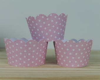 Polka Dot Cupcake Wrapper -12