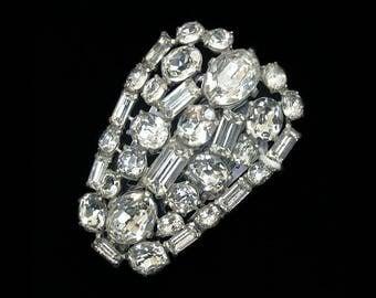 Gorgeous Large Vintage Crystal Dress Clip