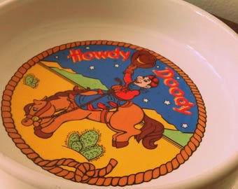 Vintage Howdy Doody Dish by Vandor Pelzman designs 1988