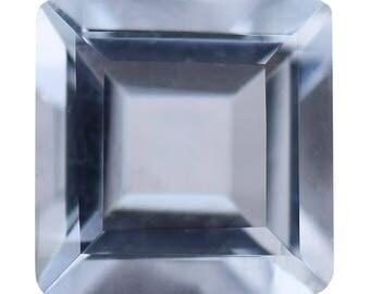 Aquamarine Loose Gemstone Square Cut 1A Quality 6mm TGW 0.75 cts.