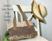 Summer Sand Beach Bag Crochet Pattern, Market Bag Crochet Pattern and Tutorial, Beach Bag Pattern, Crochet Tutorial