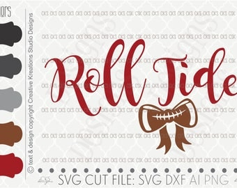 Digital Download- Cut file, Football Svg, Bama Svg, Svg, Silhouette Cut File, SVG Saying, dxf file, ai file, Silhouette Cameo, Cricut