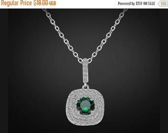 ON SALE Emerald bridal necklace, Swarovski bridal necklace, bridesmaid necklace