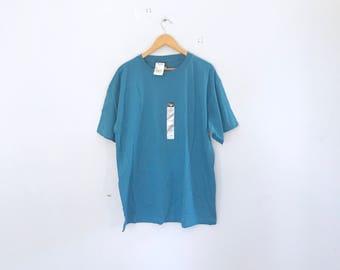Vintage t shirt, cheetah ,  turquoise basic t shirt, minimalist , t shirt , vibtahe t shirt , size  xl