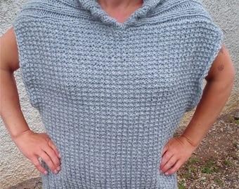 Pullover cape gray T40/42