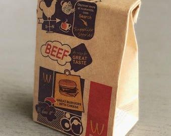 MidYear Sale15% Miniature Paper Bag,Miniature Bag,Miniature Paper,Miniature Food Bag,Dollhouse Paper Bag,Dollhouse Bag,Paper Bag