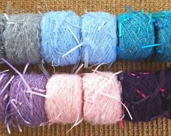 Mohair yarn, crochet yarn, knitting yarn, weaving yarn, art yarn, ribbon mohair, light yarn, knit, crochet, crocheting, yarn, kid mohair