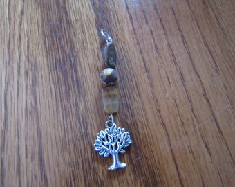 Tiger Eye and Jasper Tree of Life Pendant