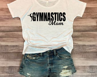 Gymnastics Mom Flowy Fit Tee
