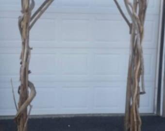 Driftwood Wedding Arbor Garden Arch Beach Wedding Arch Wood Arbor 5' x 7' Free Standing AR2