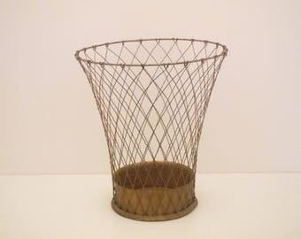 Wire Waste Paper Basket waste paper bin | etsy
