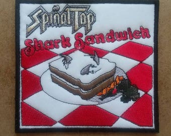 Spinal Tap Embroidered Patch Shark Sandwich