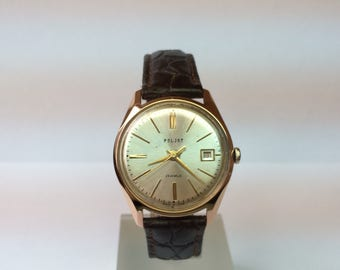 Poljot ussr gold 14к-583 soviet automatic watch 29 jewels ussr